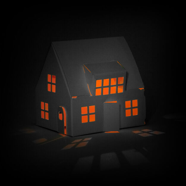 Casagami Solar Nightlight House in color