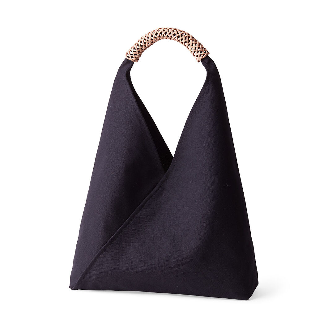 Woven Triangle Bag in color Ink