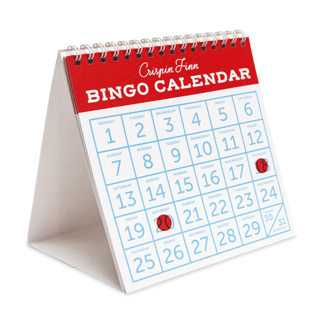 2018 Bingo Desk Calendar in color