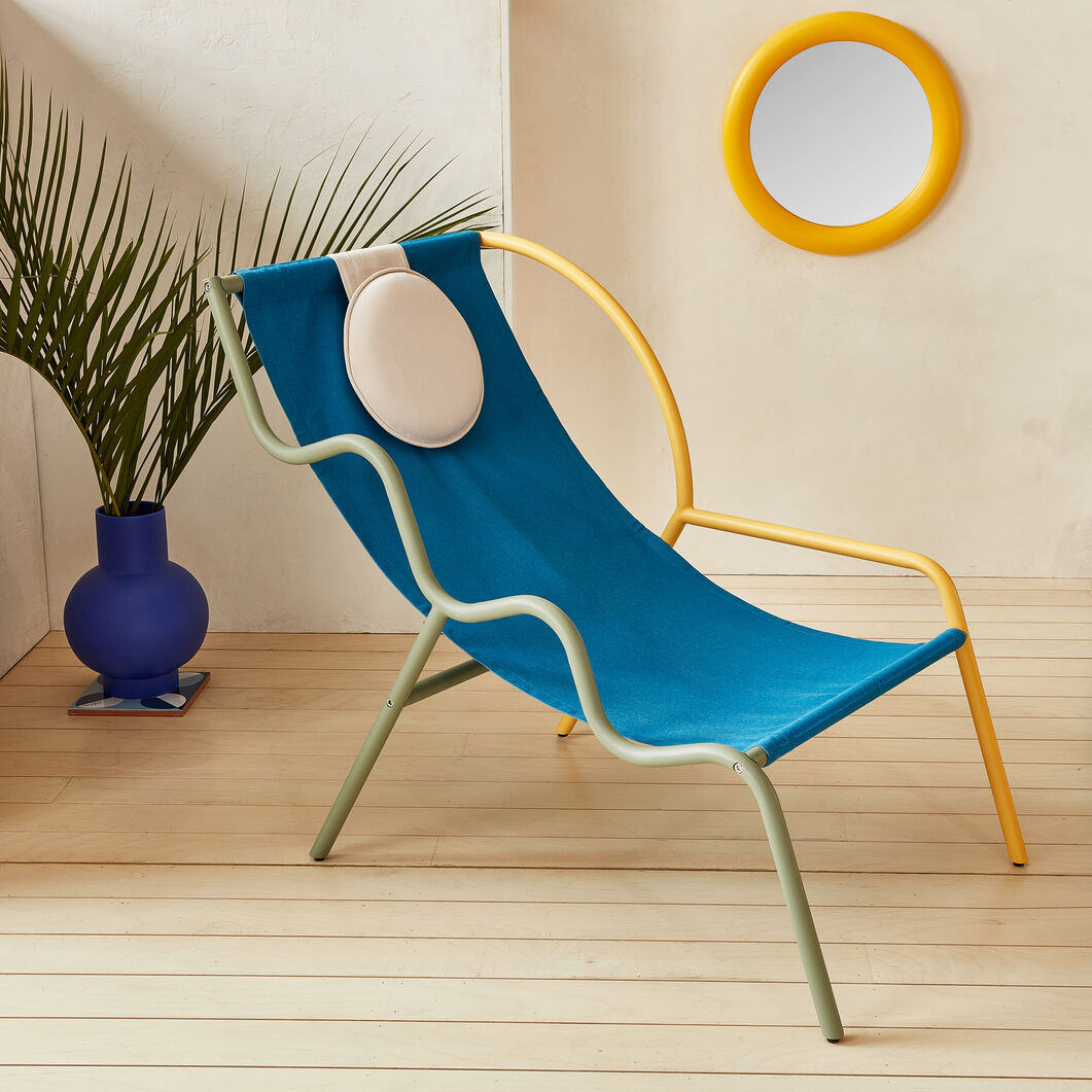 Ebba Chair in color Buttercup Yellow/ Olive Green