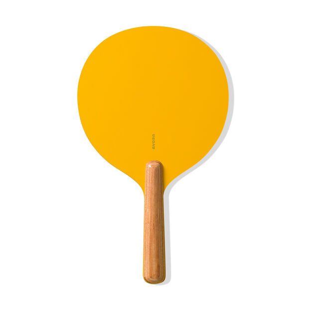 Paddle Ball Wood Set in color Yellow