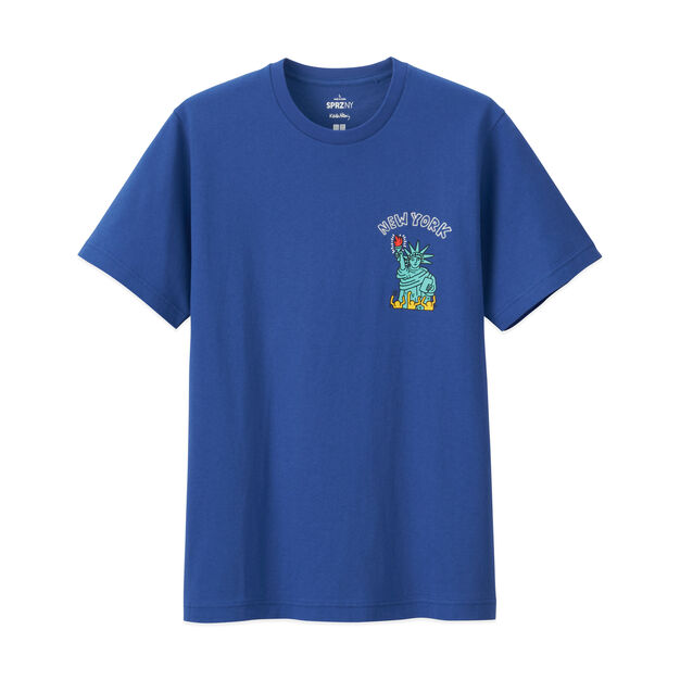 UNIQLO Keith Haring Statue of Liberty T-Shirt in color Blue