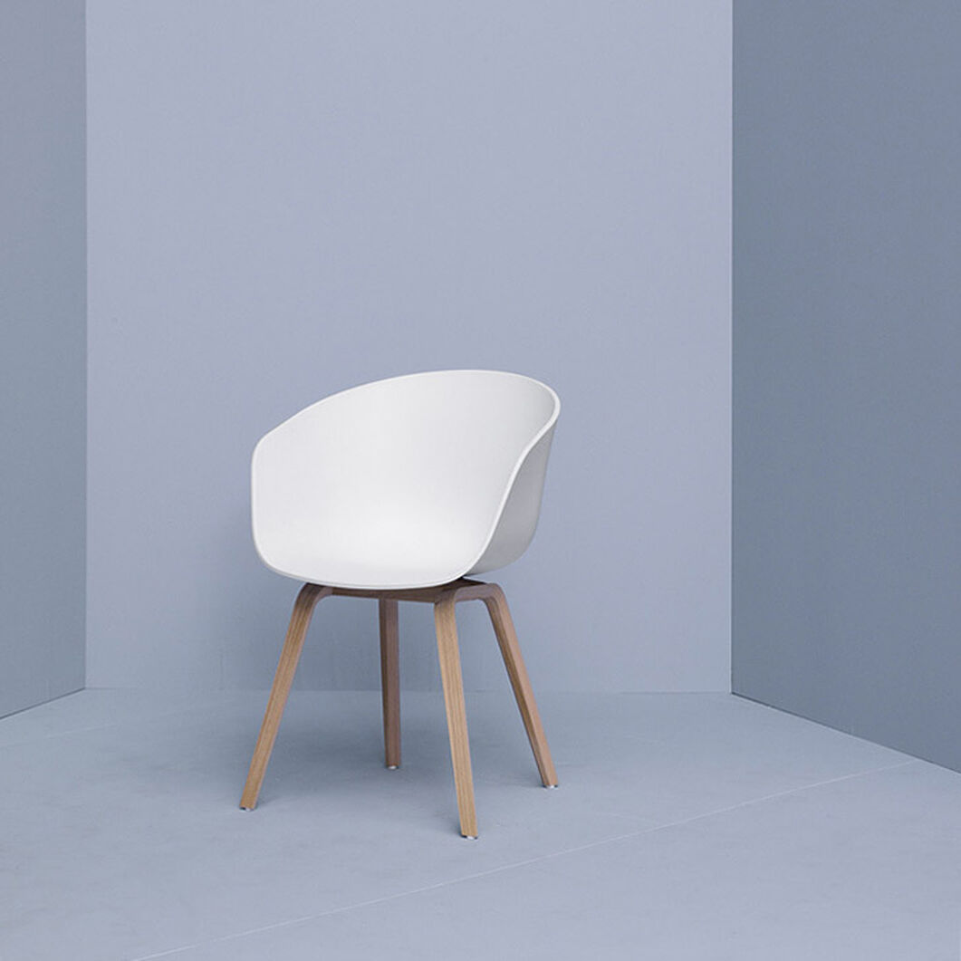 HAY About a Chair White in color Oak/White