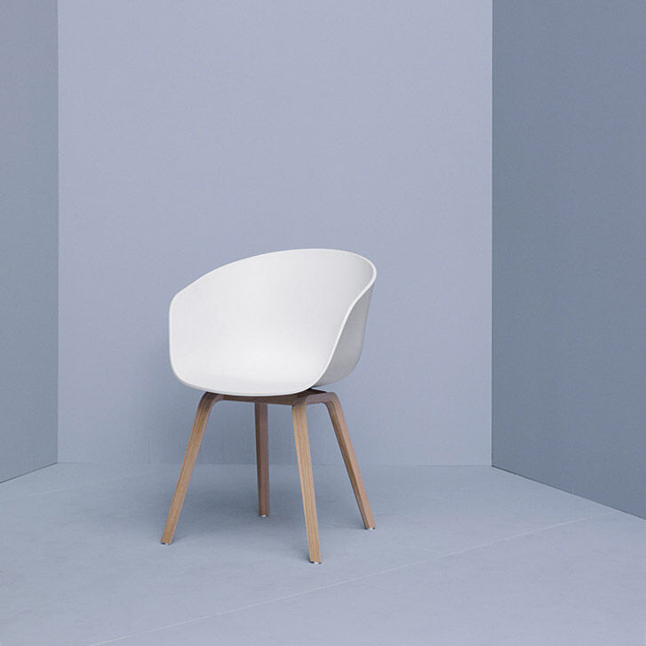 Superbe HAY About A Chair White In Color Oak/White