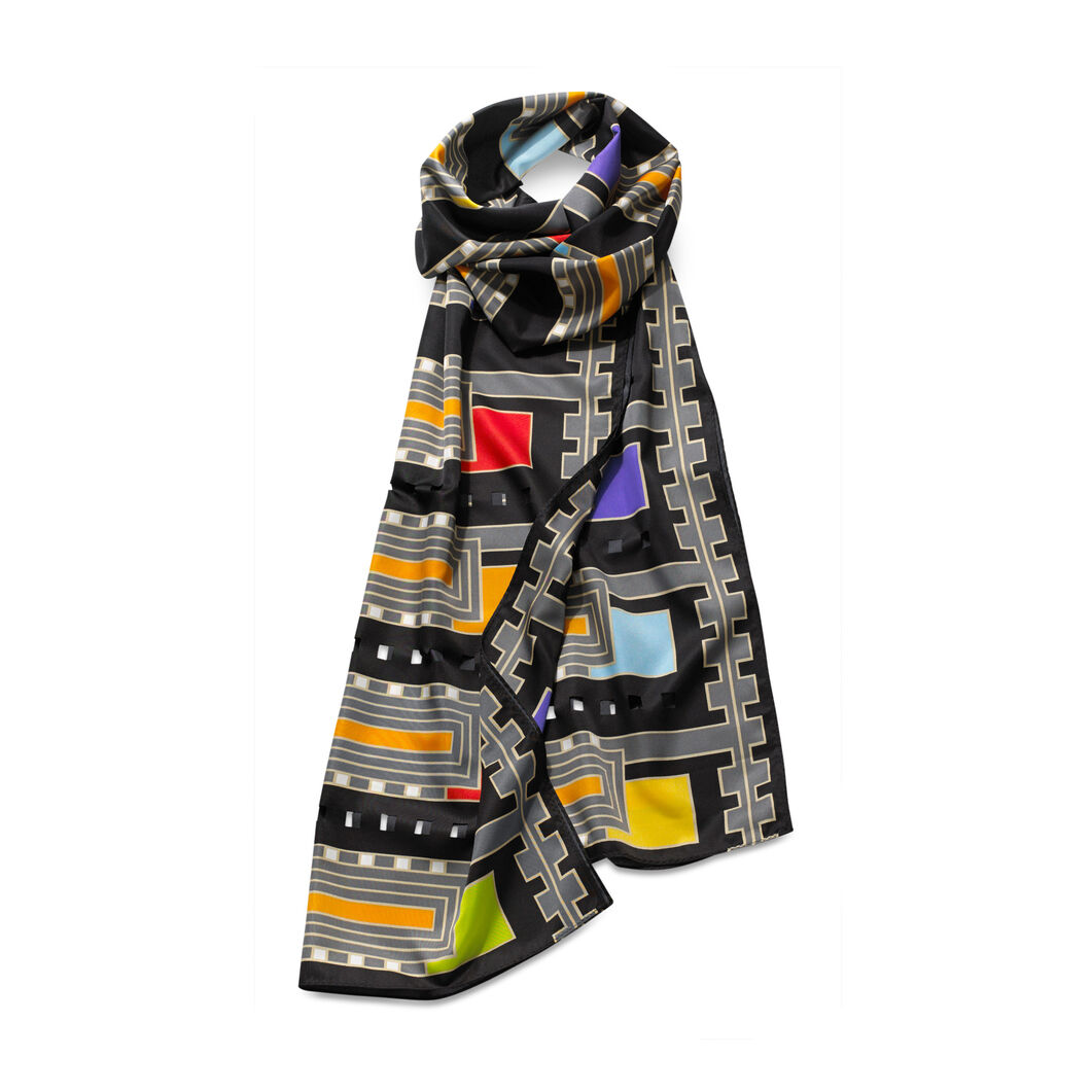 Frank Lloyd Wright: Florida Usonian House Scarf Black in color Black
