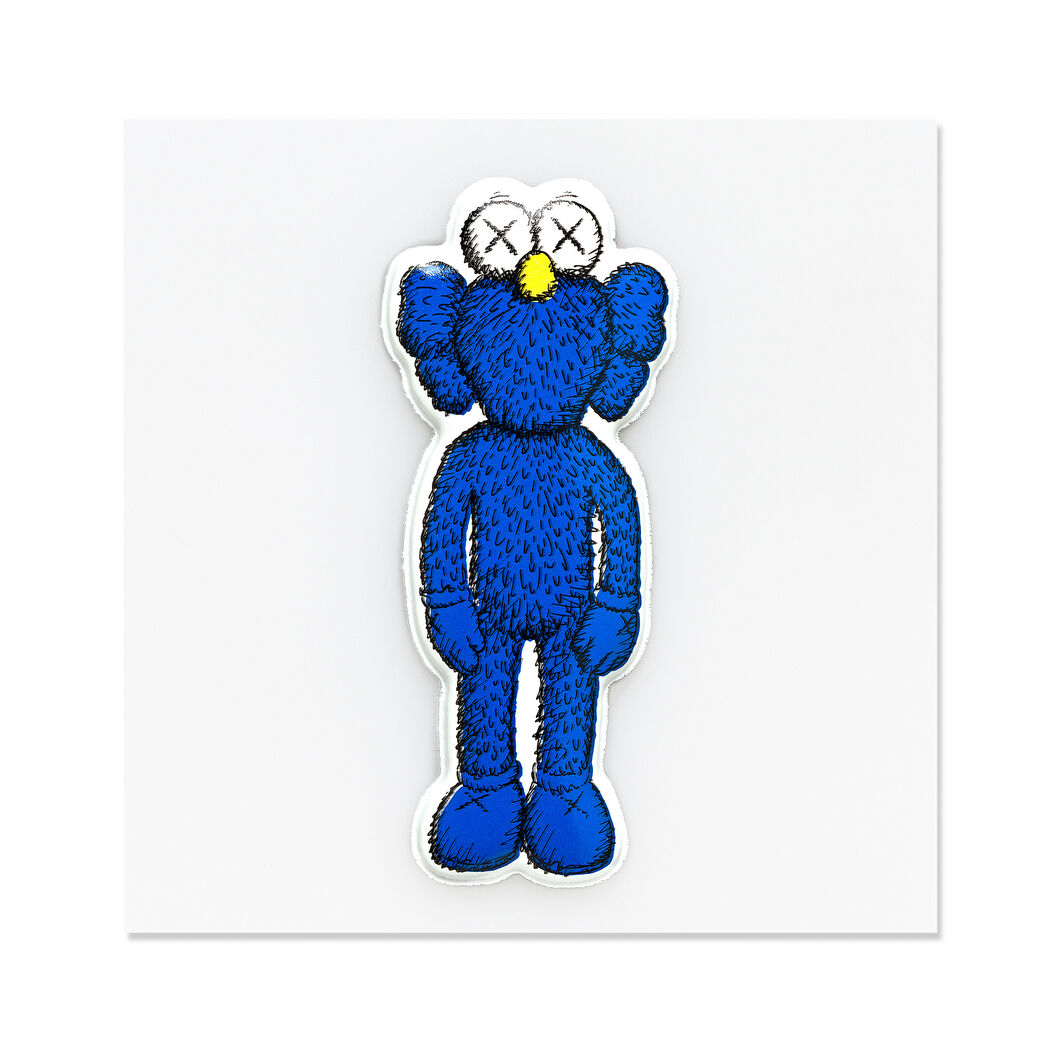 KAWS BFF Greeting Card with Puffy Sticker in color Blue