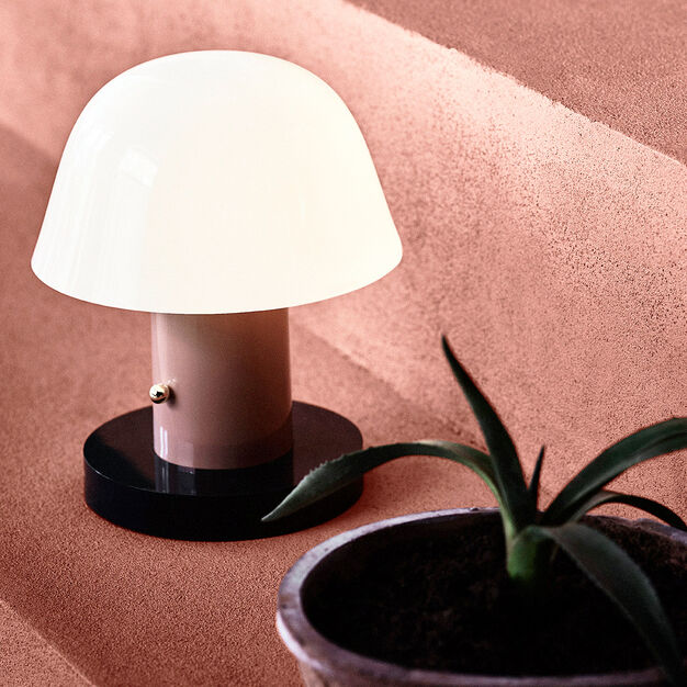 Setago Portable Table Lamp in color Tan/ Forest