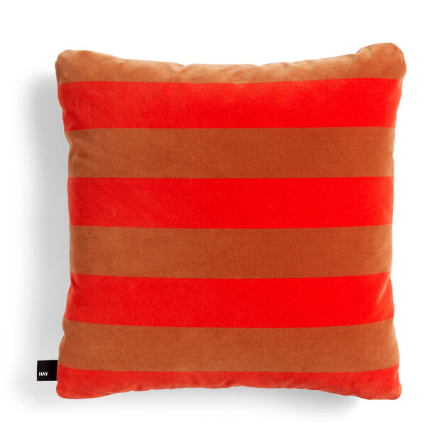 HAY Soft Stripe Cushion in color Red