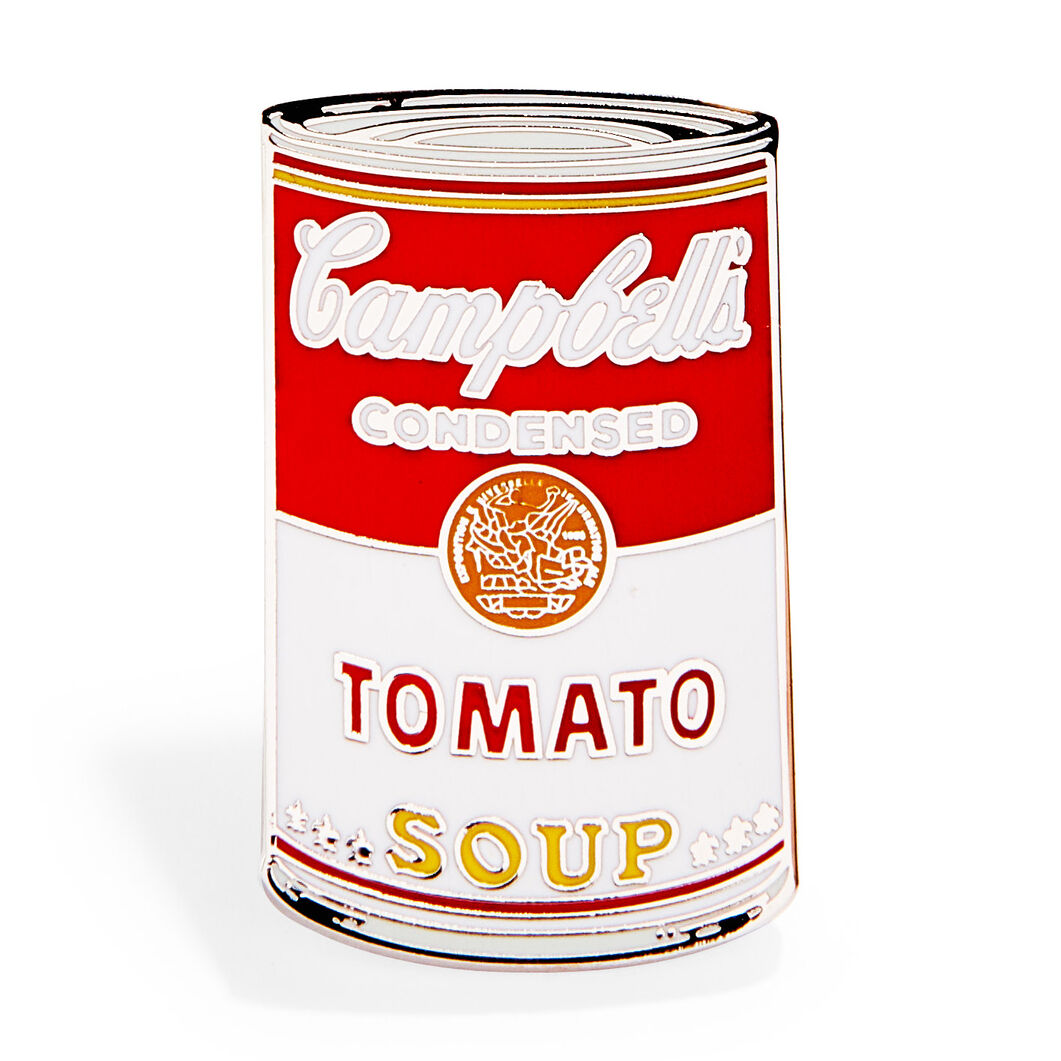 Andy Warhol: Campbell's Soup Cans Enamel Pin in color