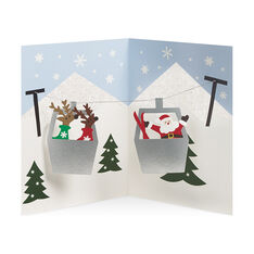Alpine Reindeer Holiday Cards in color