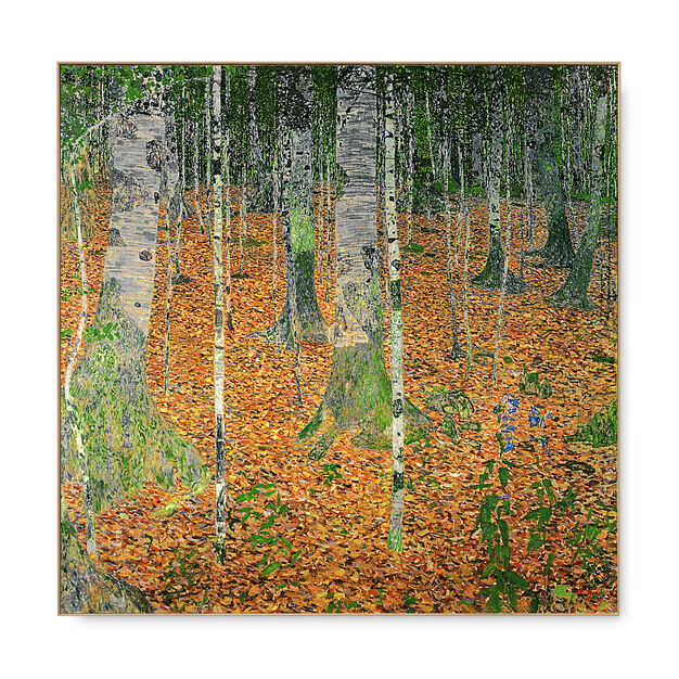 Klimt: The Birch Wood Framed Print in color
