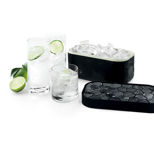 Reversible Lid Ice Box in color Black
