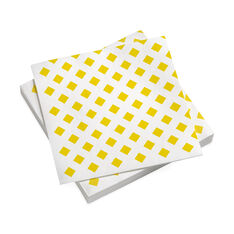 Alexander Girard Dinner Napkins Yellow Checks in color