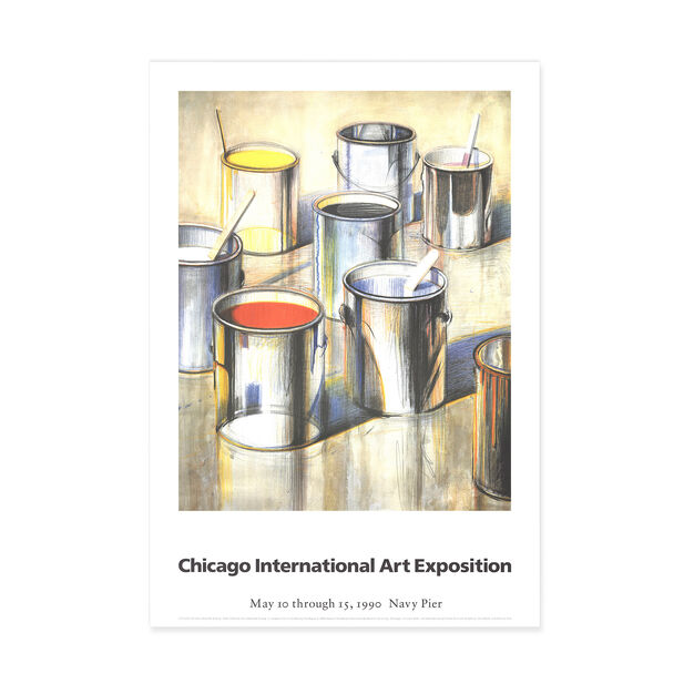 Wayne Thiebaud: Paint Cans Poster in color