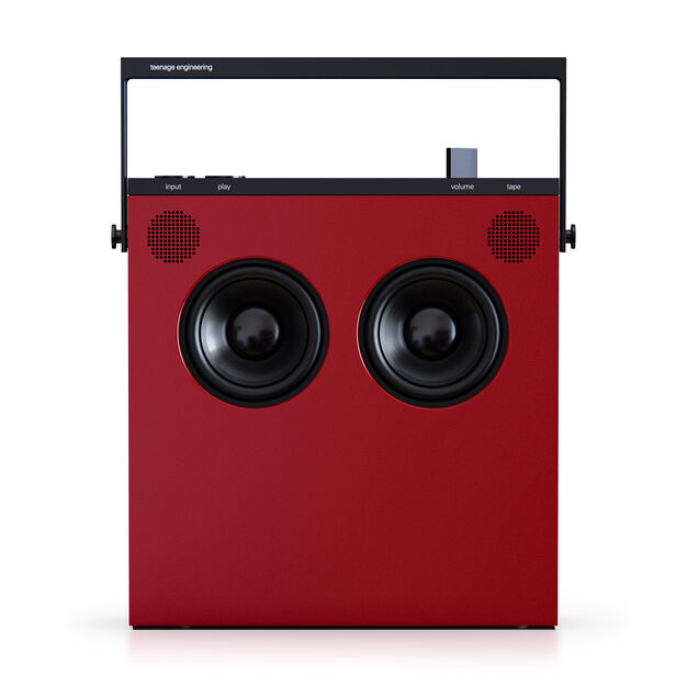 Teenage Engineering OB-4 Portable Bluetooth Speaker & FM Radio in color Red