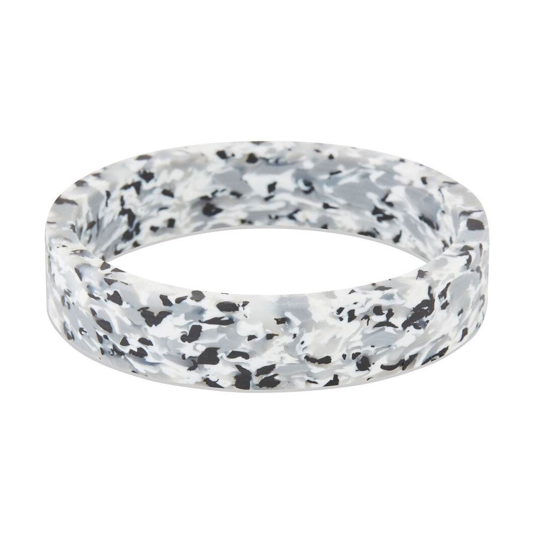 AYM Ingrid Recycled Plastic Bangle in color Black/ White
