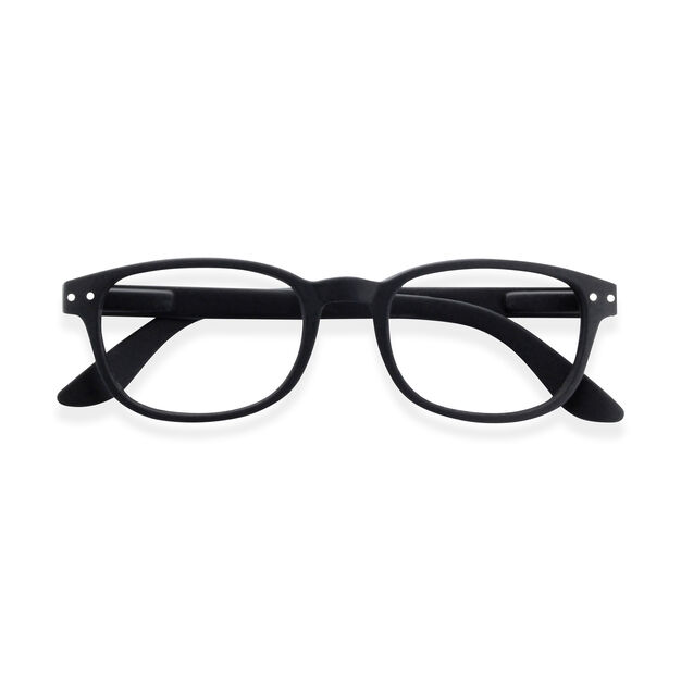 IZIPIZI Rectangular Reading Glasses #B in color Black