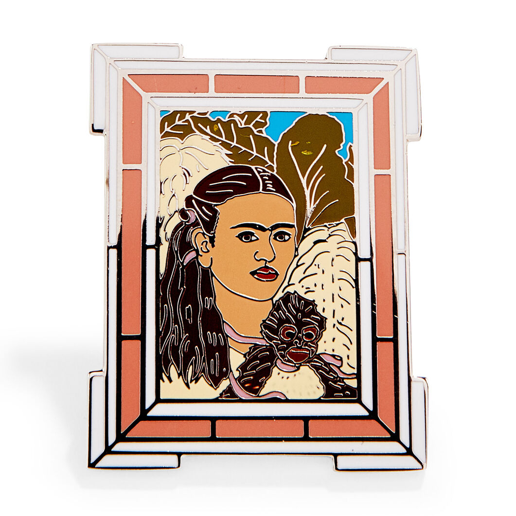 Frida Kahlo: Fulang-Chang and I Enamel Pin in color