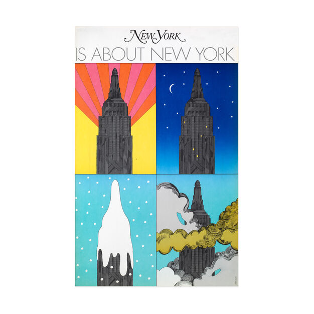 Milton Glaser: New York is about New York Poster in color