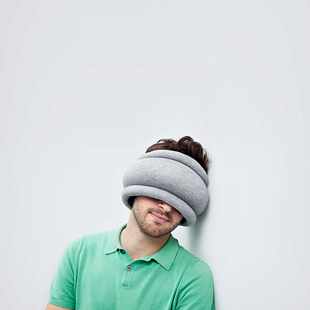 Reversible Ostrich Travel Pillow in color