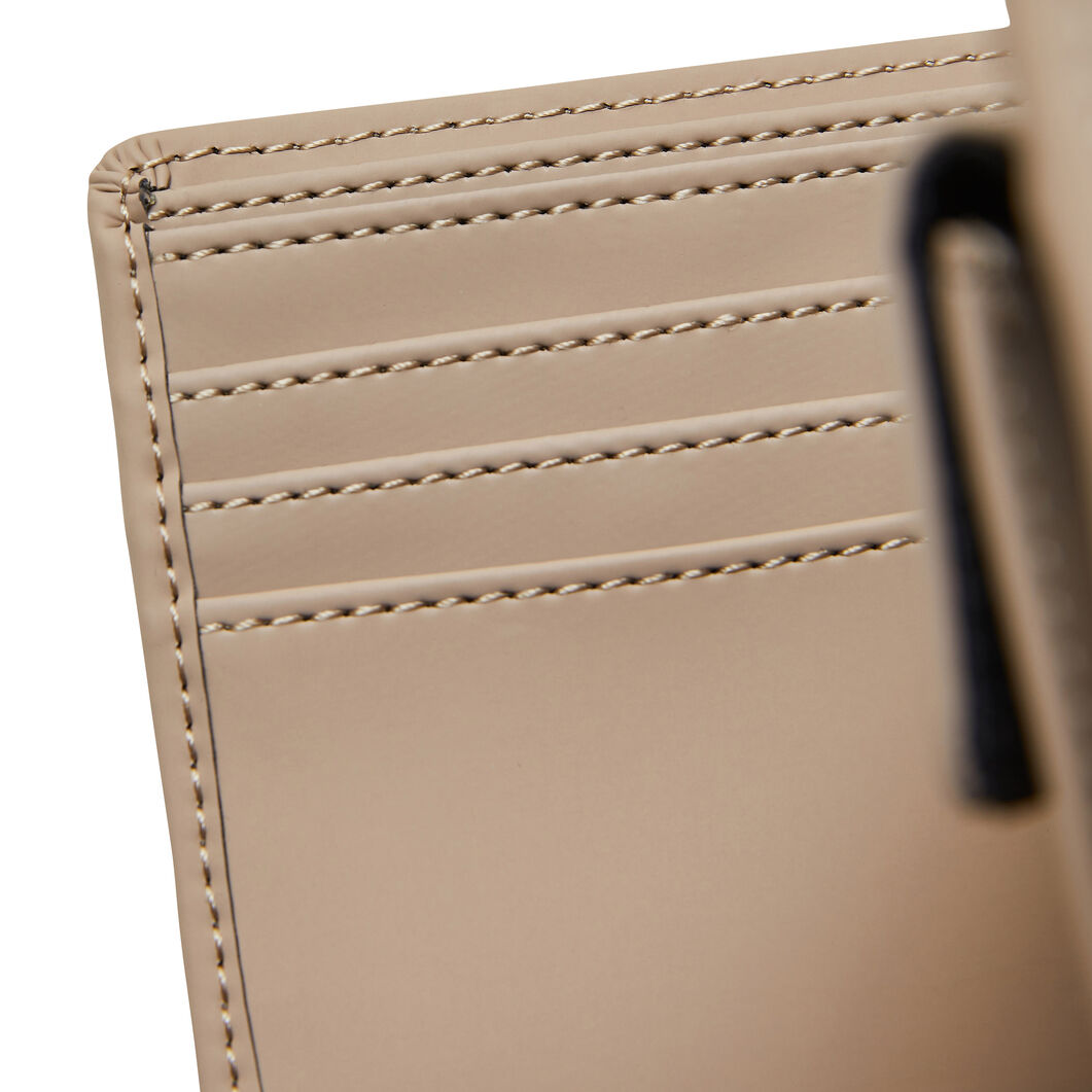 Rains Folded Vegan Waterproof Wallet in color Taupe