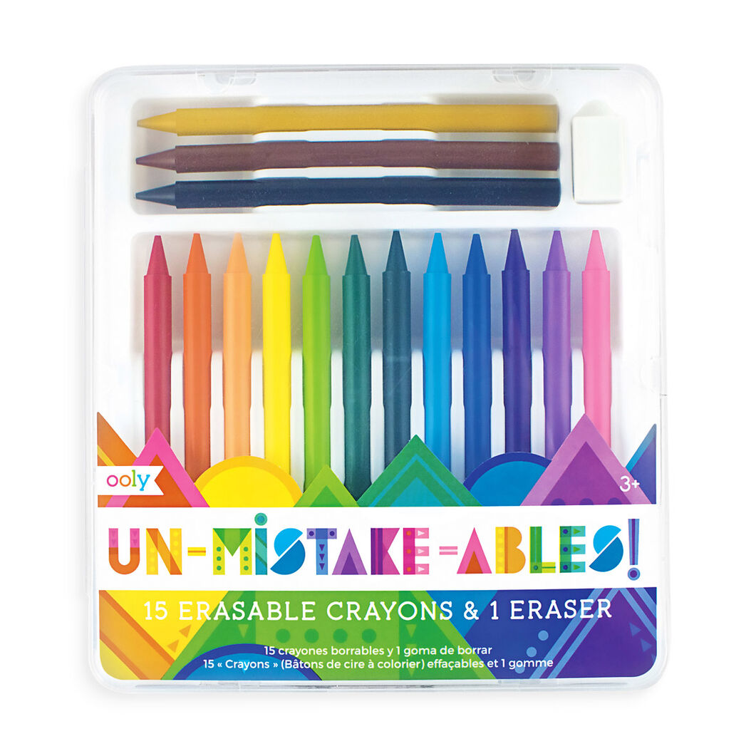 Unmistakeables Erasable Crayons in color