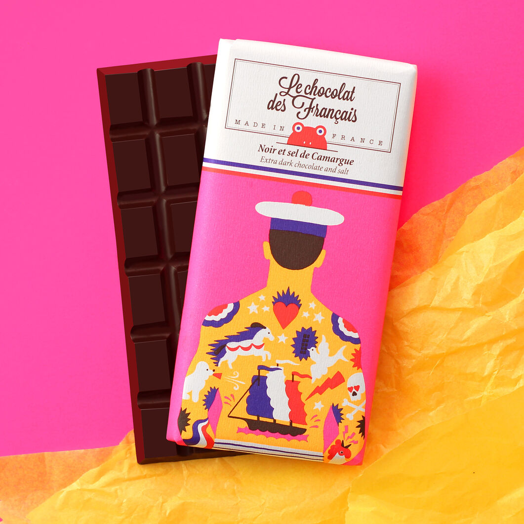 Le chocolat des Français Chocolate Bar – Tattoo in color