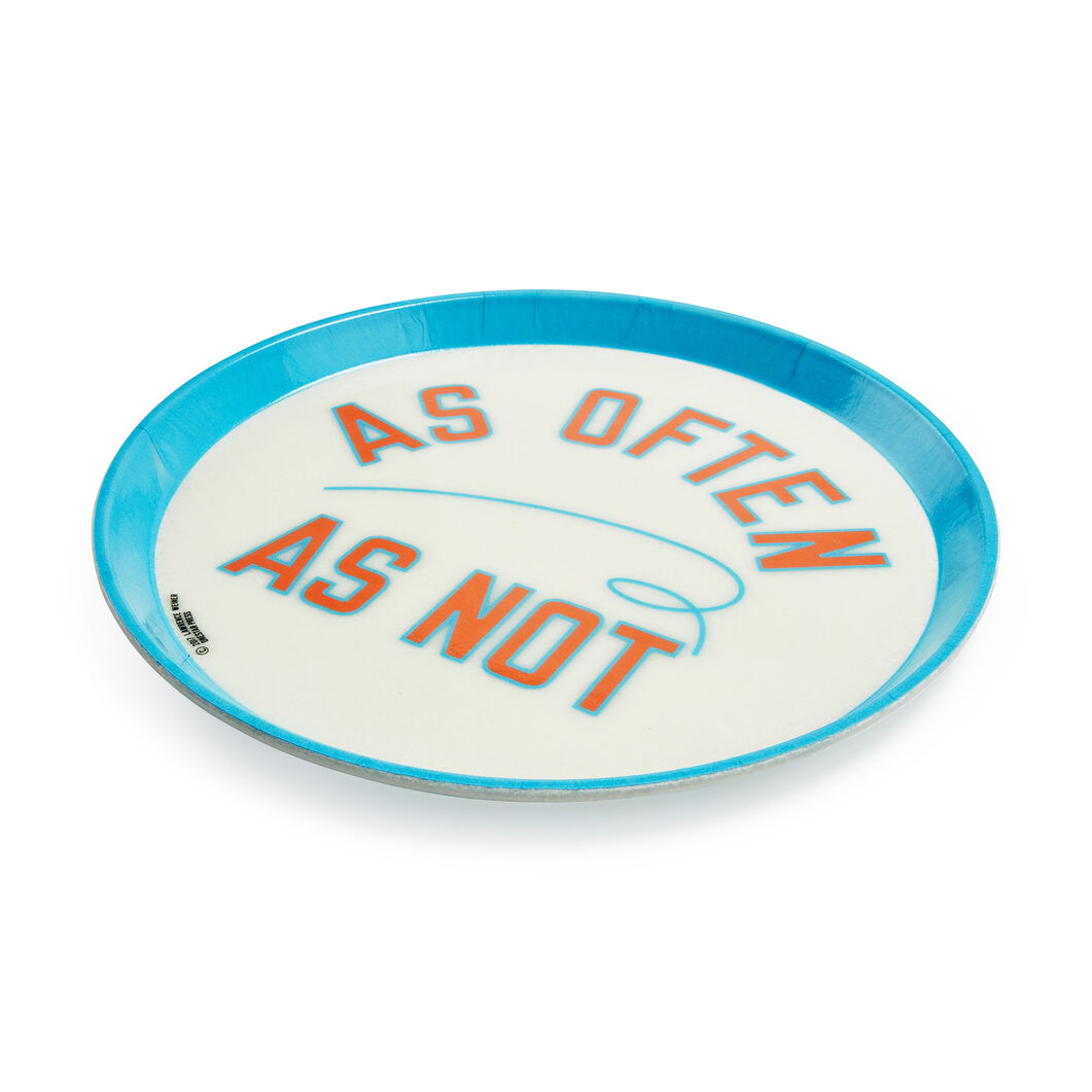 Lawrence Weiner Tray in color