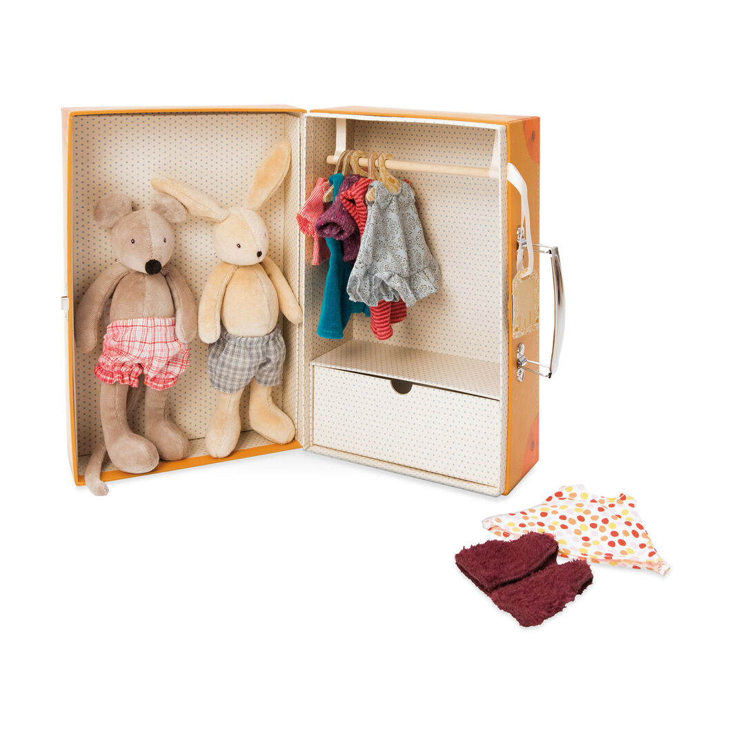 My Little Armoire Plush Bunny & Mouse Toy Set in color