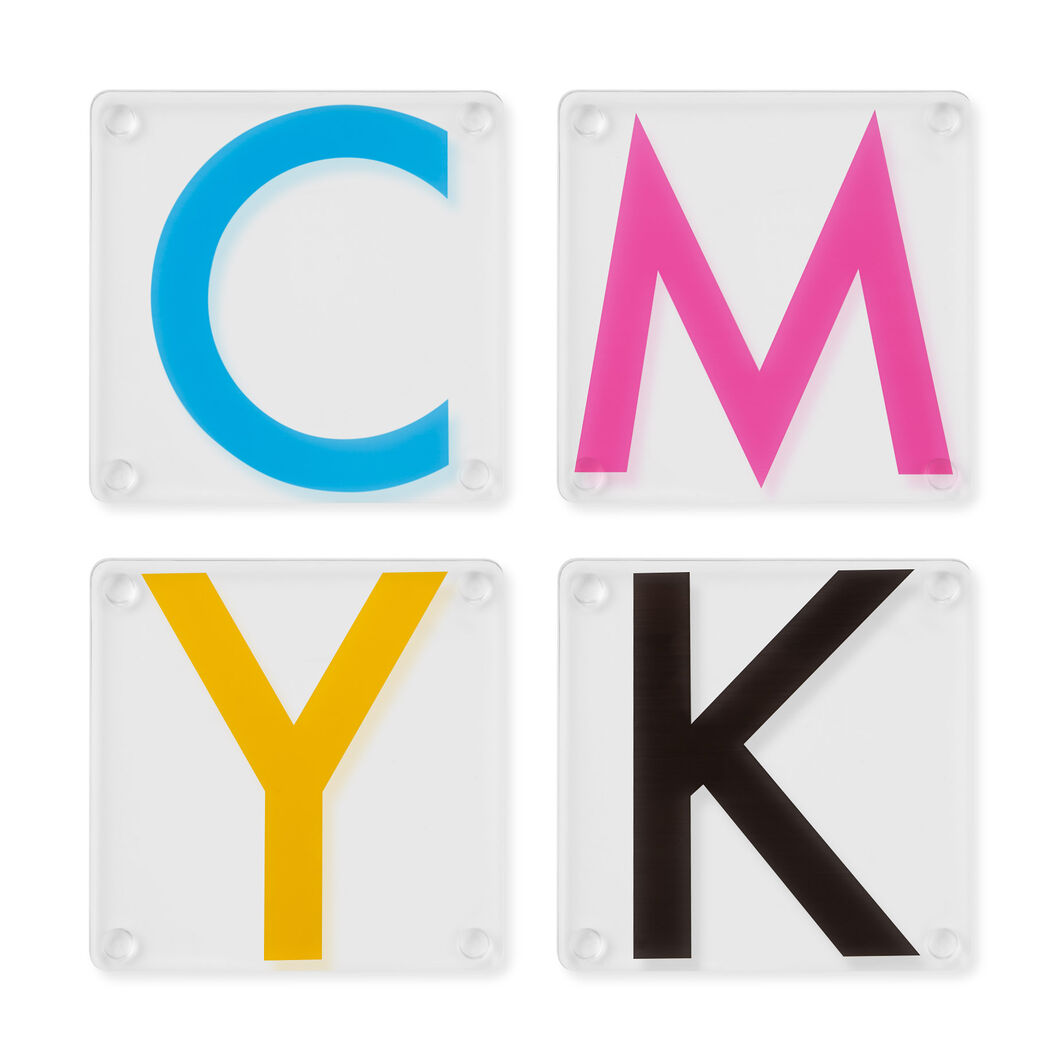 CMYK Coasters in color