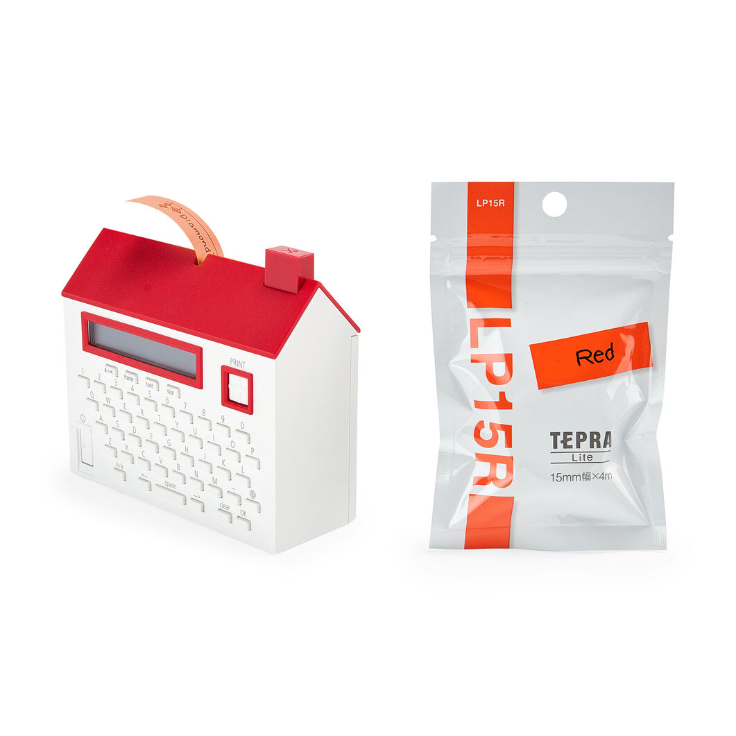 House Label Maker Tape in color Red