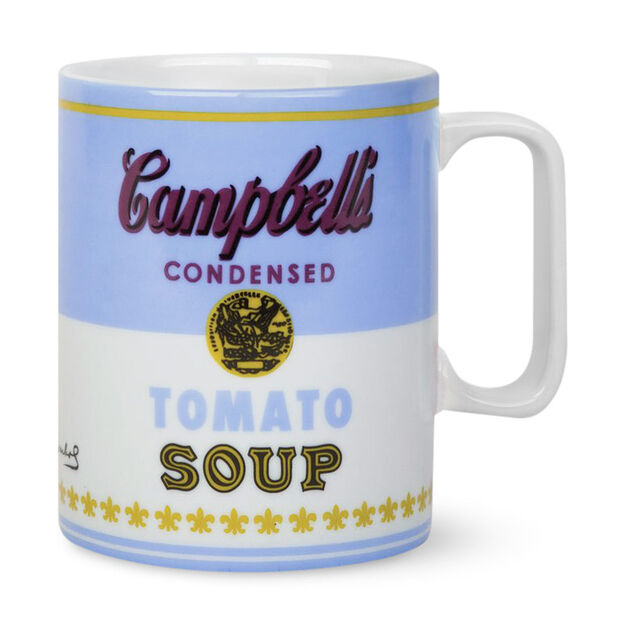 Andy Warhol Campbell Soup Can Mugs in color