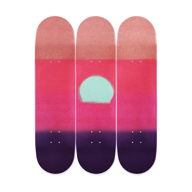 Andy Warhol Sunset Triptych Skateboards in color Purple
