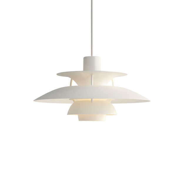 PH 5 Hanging Lamp in color White Monochrome