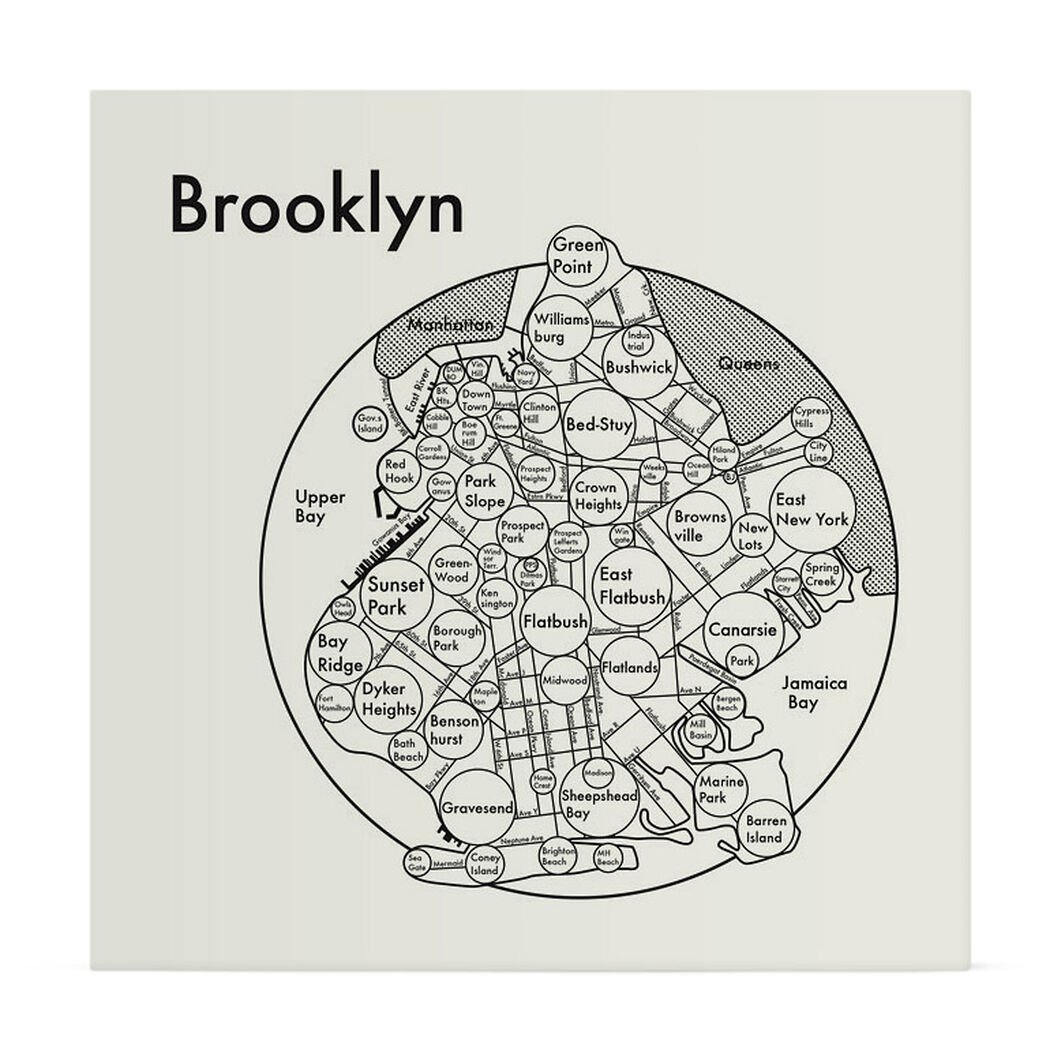Brooklyn Map Print in color