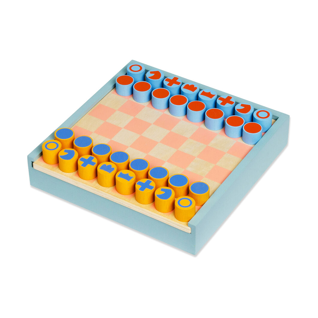 2-in-1 Chess & Checkers Set in color