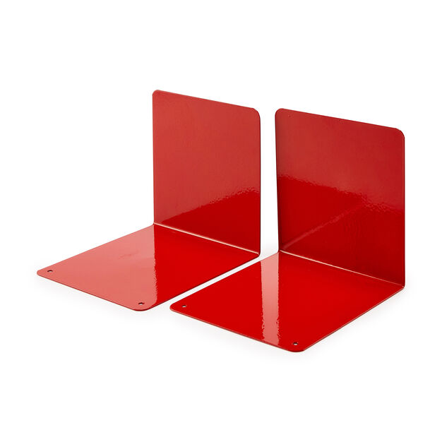Ellepi Bookends - Set of 2 in color Red