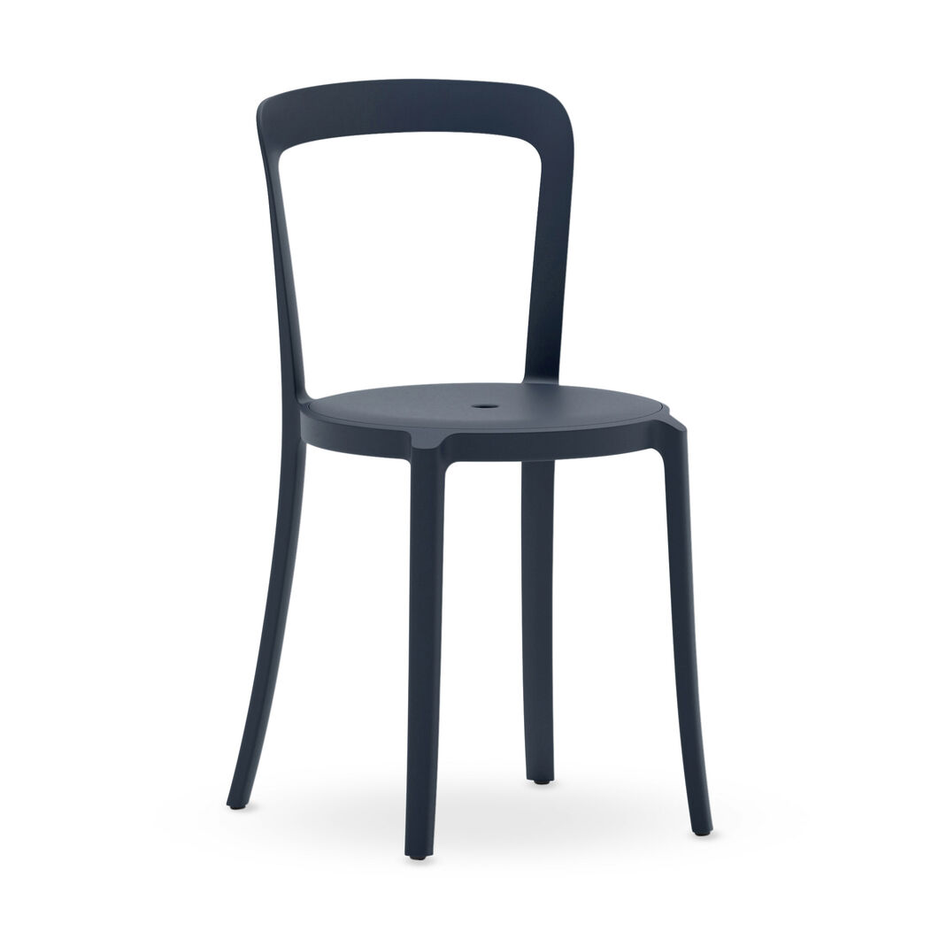 Emeco On & On Recycled Stackable Chair in color Atlantic Dark Blue