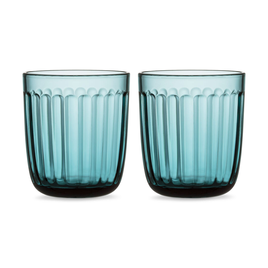 Iittala Raami Glass Tumbler - Set of Two in color Blue