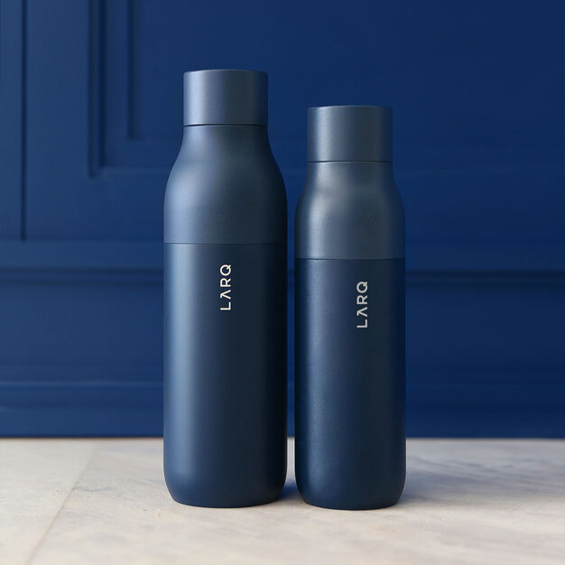 LARQ Self-Cleaning Water Bottle in color Navy