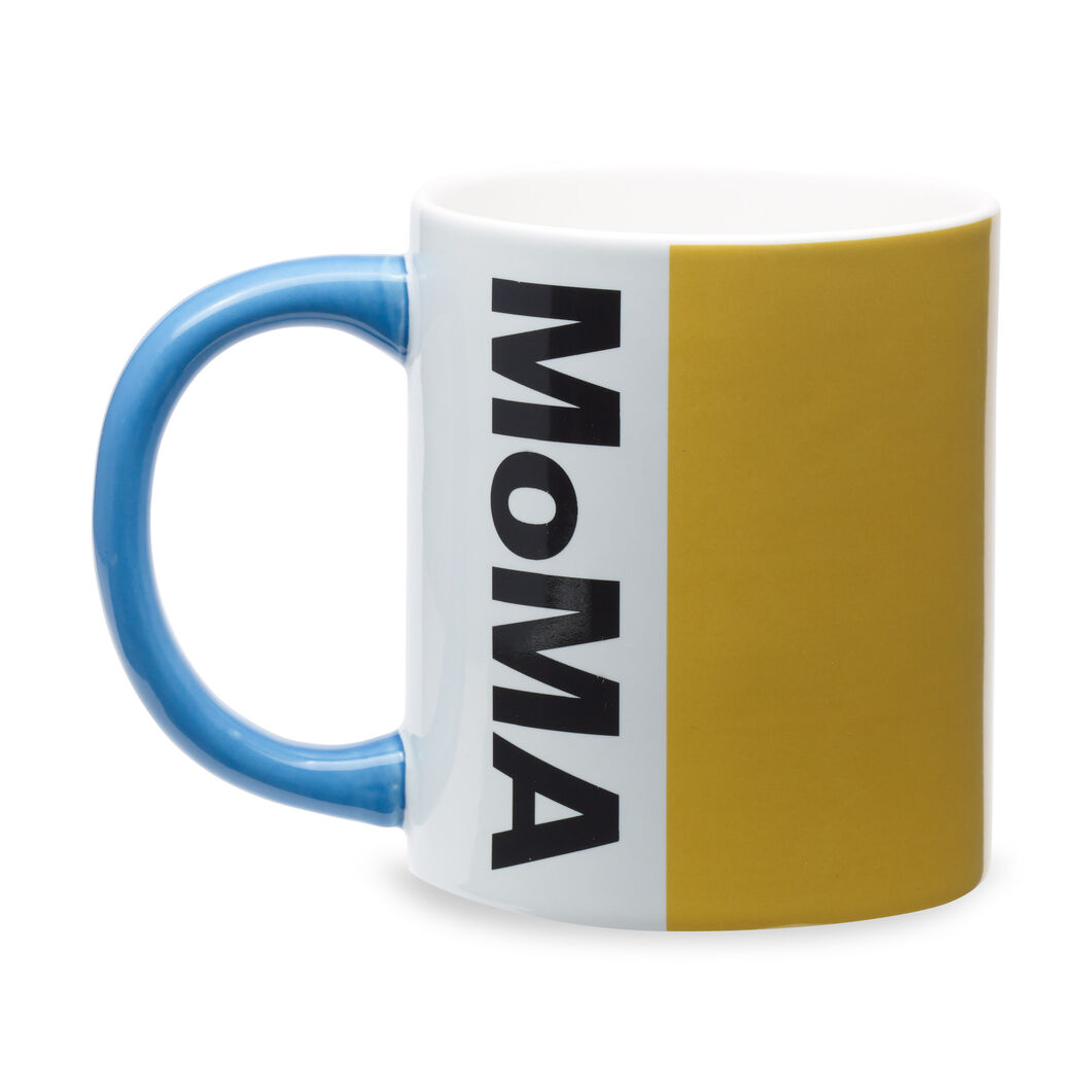 MoMA Logo Mug in color Yellow/ Blue
