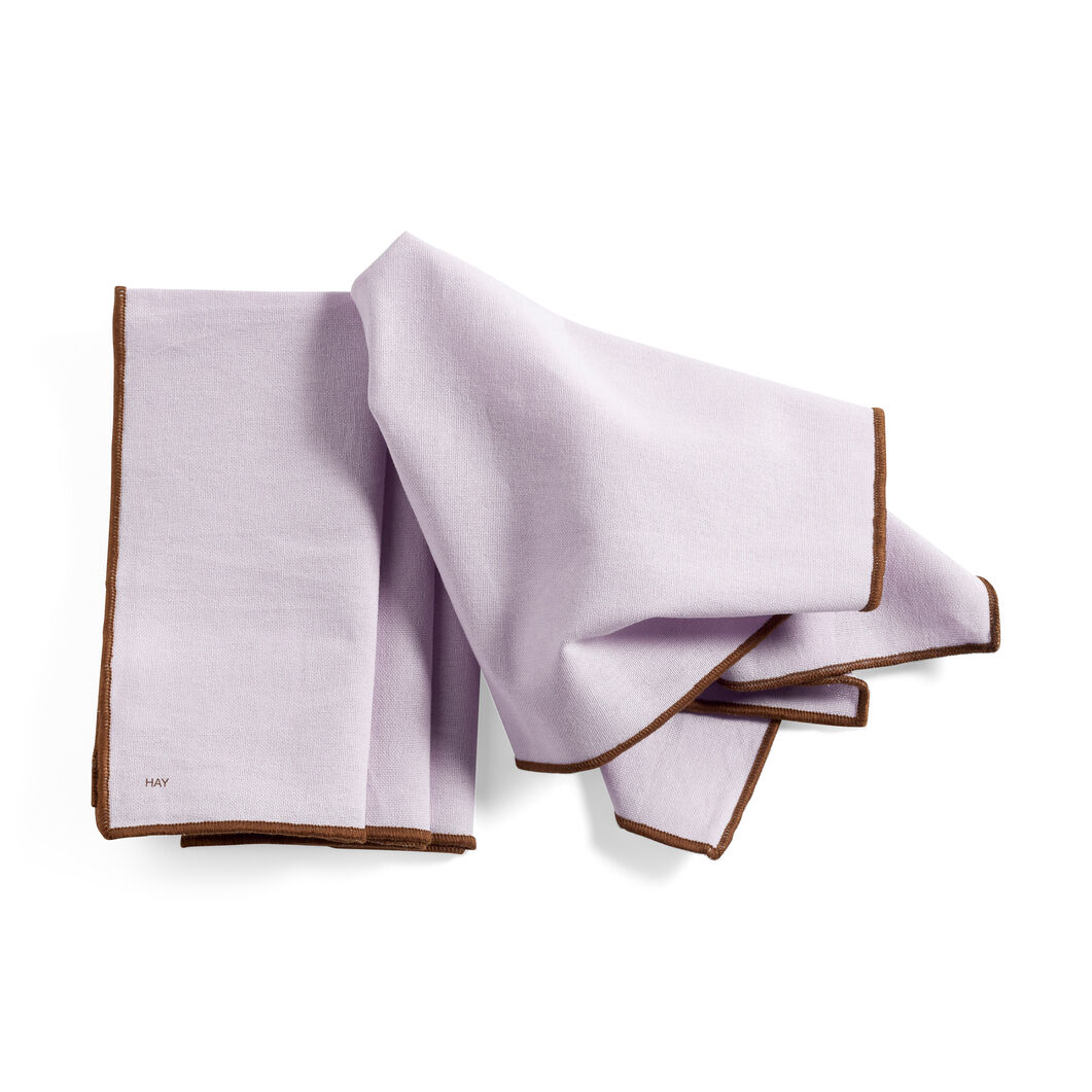 HAY Cotton Napkins - Set of 4 in color Lavender