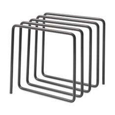 Wire Magazine Desktop Rack in color Gray