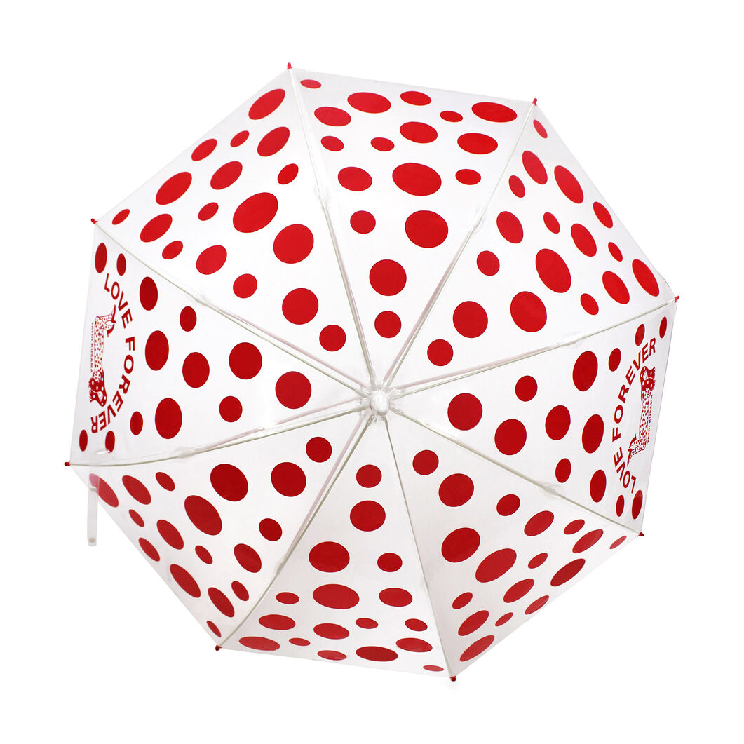 Yayoi Kusama Love Forever Dots Umbrella in color Red