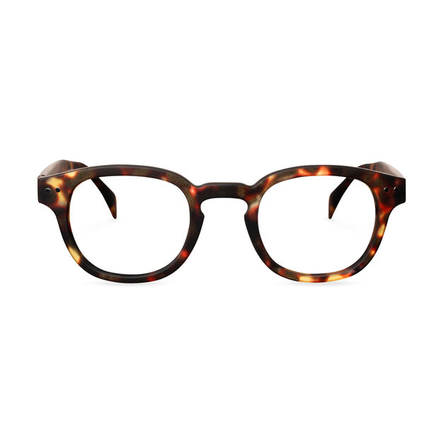 IZIPIZI Rounded-Edge Square Reading Glasses #C in color Tortoise