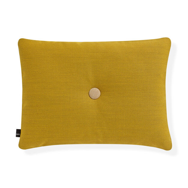 HAY Dot Cushion - Golden Yellow Steelcut Trio in color Yellow