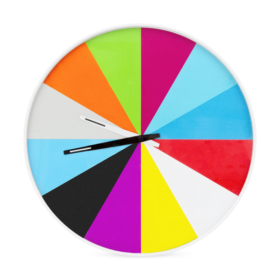 Ultra-Flat Multicolor Wall Clock in color