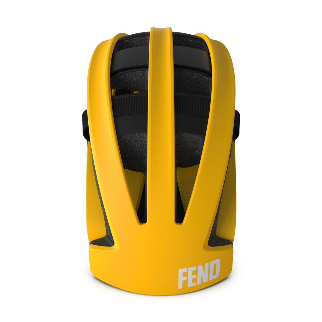 Fend Collapsible Bicycle Helmet in color Yellow
