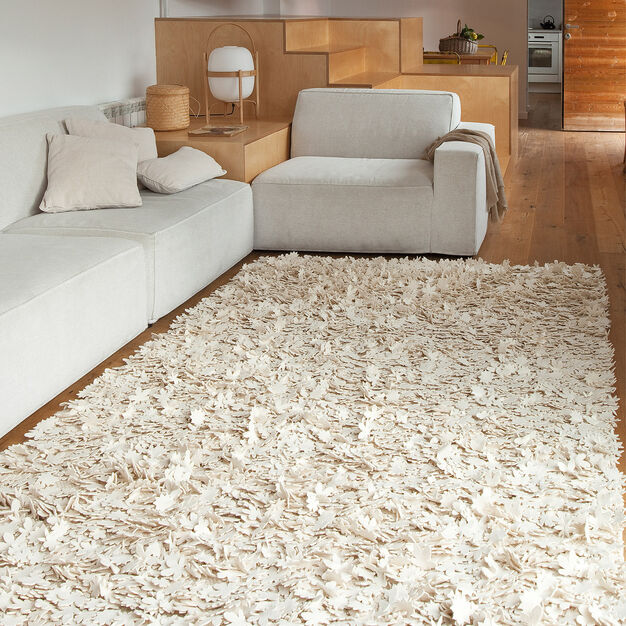 Nanimarquina Little Field of Flowers Rug in color Ivory