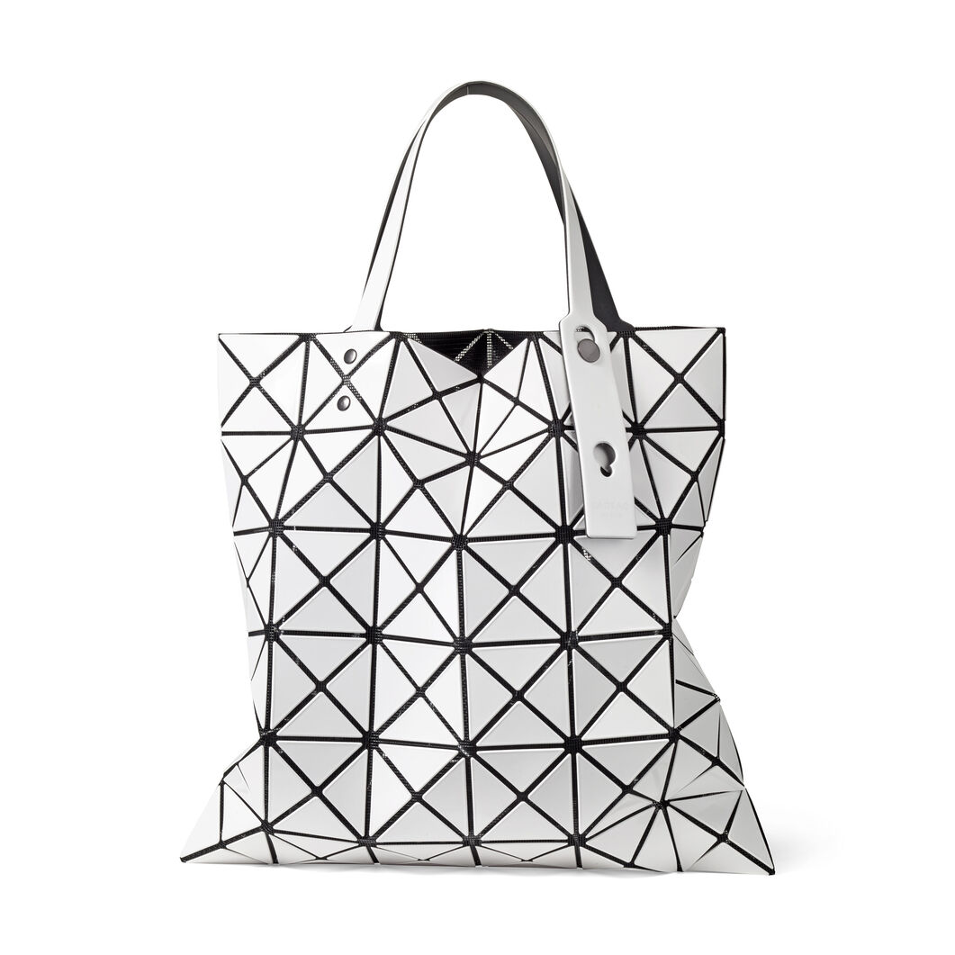 BAO BAO ISSEY MIYAKE Lucent Tote Bag in color White